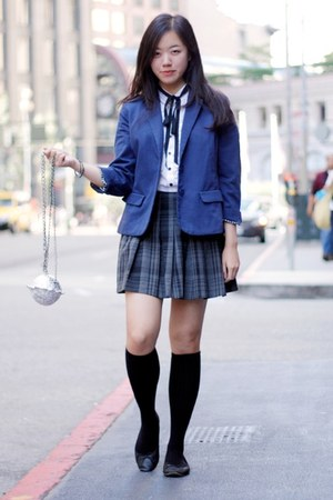 blue Urban Outfitters blazer - black American Apparel socks