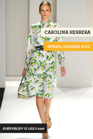 white Carolina Herrera dress