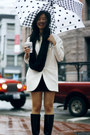 Black-aquatalia-boots-white-zara-blazer-black-h-m-scarf