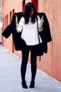 White-the-whitepepper-top-black-shaggy-vintage-coat-black-bag