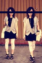 Dorothy Perkins dress - vest - leggings - accessories