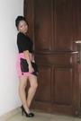 Black-nyla-dress-pink-macaroon-skirt-black-qupid-shoes-purple-accessories