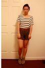 White-h-m-accessories-green-urban-outfitters-shorts-brown-forever-21-belt-