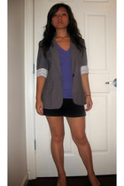 random from Hong Kong blazer - American Apparel top - No Boundaries shorts - H&M