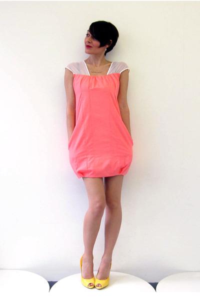 pink Simones Rose dress - gold Aldo shoes - silver Brazen Design necklace - silv