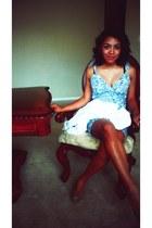 white thrifted blazer - Charlotte Russe heels