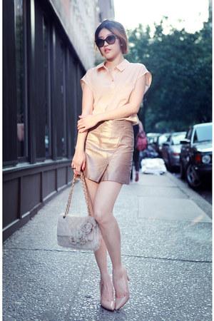 neutral DKNY shirt - neutral All Saints skirt - neutral Carola pumps