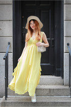 light yellow Yesfor dress - off white DKNY wedges