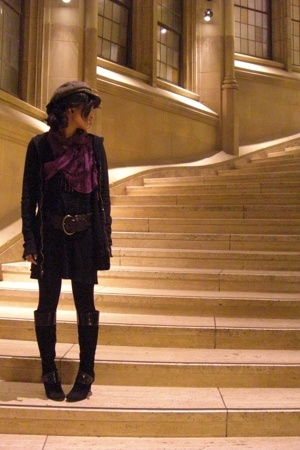 Romy sweater - Nine West boots - Vietnam hat - scarf