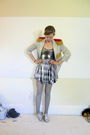 Gray-vintage-jacket-silver-wet-seal-dress-gray-primark-tights-silver-thrif