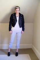 H&M jacket - DIY top - Target kids section pants - high-heeled oxford shoes - My