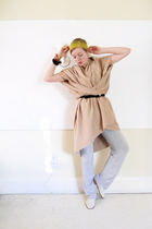DIY dress - H&M pants - thrifted shoes - DIY accessories - old belt - DIY bracel