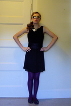 yard sale dress - thrifted belt - Urban Outfitters shoes - I made it myself neck