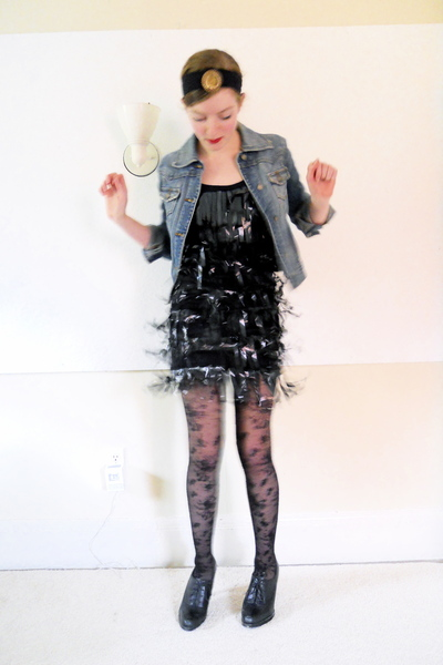 black lace H&M tights - black Nine West shoes