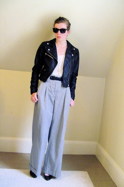 H&M jacket - diy top - Express pants - Target shoes - from Portobello Road sungl