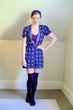 vintage dress - Urban Outfitters swimwear - H&amp;M socks - Steve Madden shoes - DIY