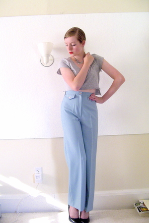 DIY t-shirt - vintage pants - Target shoes - Secondhand necklace - made by me ac