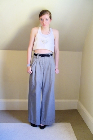 DIY top - Target bra - Express pants - Target shoes - old belt - DIY necklace