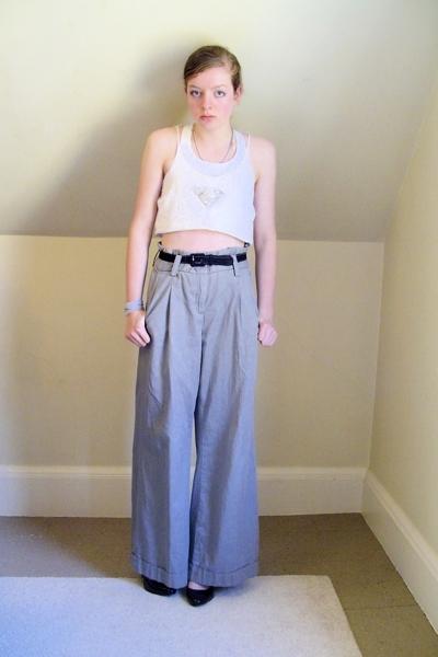DIY top - Target bra - Express pants - Target shoes - old belt - DIY necklace