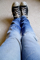 diy from reconstructed levis jeans - shoes