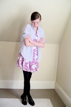 H&M dress - Secondhand shirt - tights - shoes