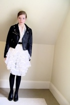 H&M jacket - vintage skirt - old belt - tights - Nine West shoes