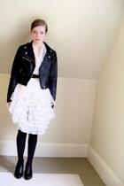 H&M jacket - vintage skirt - old belt - tights - Nine West shoes