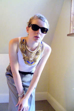 H&M top - from Portobello Road necklace - also from Portobello Road sunglasses -