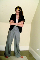 thrifted blazer - Express pants - H&M top - from Portobello Road accessories - b