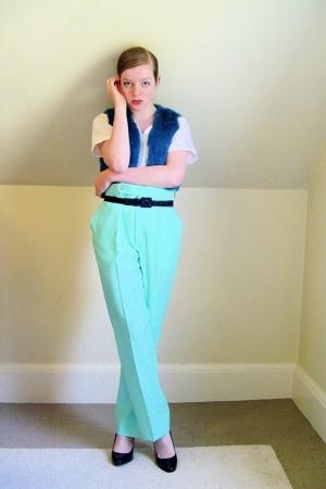 thrifted vest - thrifted pants - Marshalls t-shirt - old belt - Target shoes - o