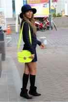 yellow asos bag