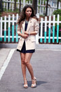 Peach-polyester-chicwish-blazer