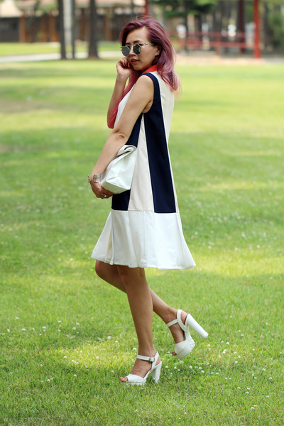 white thestudiok dress - white yesimfrench bag - white Zappos heels
