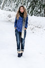 Navy-7-for-all-mankind-jeans-white-karen-kane-scarf