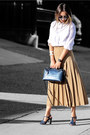 Light-brown-farfetch-skirt-white-forever-21-top-navy-nina-shoes-sandals