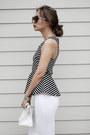 Tawny-zerouv-sunglasses-white-bebe-skirt-black-dynamite-clothing-top