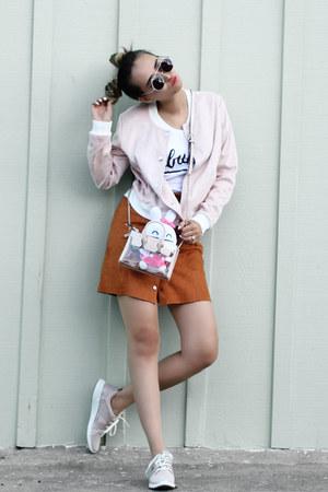 carrot orange asos skirt - light pink Forever 21 jacket