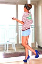 blue Forever21 heels