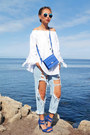Navy-style-moi-jeans-white-sheinside-top-blue-aqua-pillar-sandals