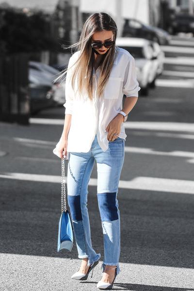 blue NY&Company jeans - black NY&Company necklace
