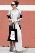 black IfChic cardigan - silver Lulus dress