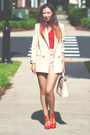 Nude-chicwish-blazer-light-pink-asos-bag-light-pink-forever-21-shorts