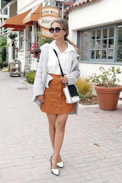 tawny Lookbook skirt - white Nordstrom heels - white asos blouse
