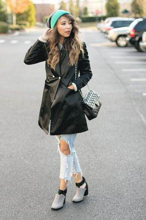 aquamarine Verloop hat - silver Nasty Gal boots - black style moi blazer