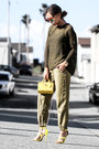 Olive-green-dorothy-perkins-sweater-yellow-coach-bag