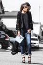 Black-nordstrom-coat-navy-new-look-jeans-silver-trendhood-bag