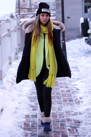 yellow knit Forever 21 cardigan