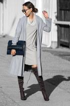 silver Sheinside coat - silver Public desire boots