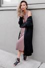 Light-purple-forever-21-dress-black-new-look-cardigan