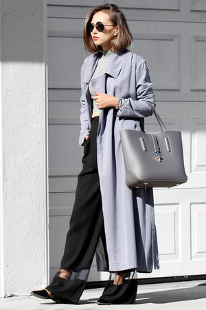 heather gray Lulus coat - silver Lulus sweater